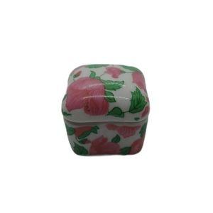 💗Treasure Keeper Box, Fitted Lid; Ceramic Flowers